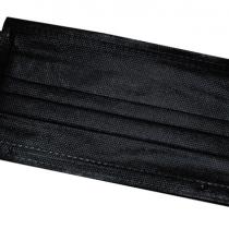 Маски 3-х слойные, чёрные, упаковка (50 шт)